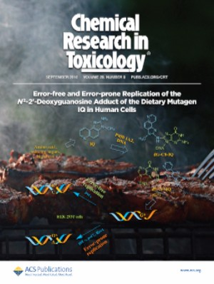 Cover of Chemistry Research in Toxicology