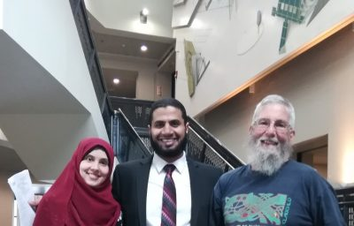 Dr.James Rusling with Postdoc, Islam Mosa and Grad Student Esraa Elsanadidy