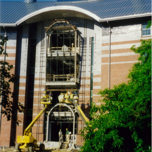 main entrance construction