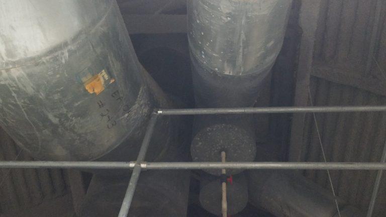 Building Tour: attic exhaust stacks