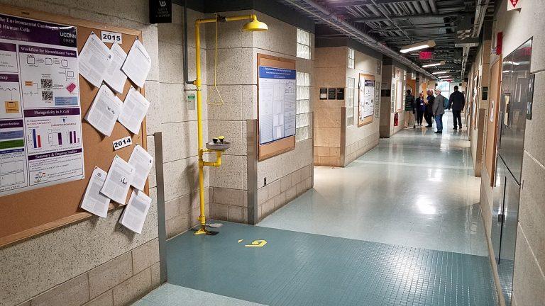 Building Tour: green floor tiles