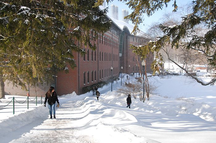 Chemistry Building after snow storm