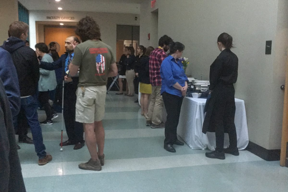 Reception in the Chemistry Building
