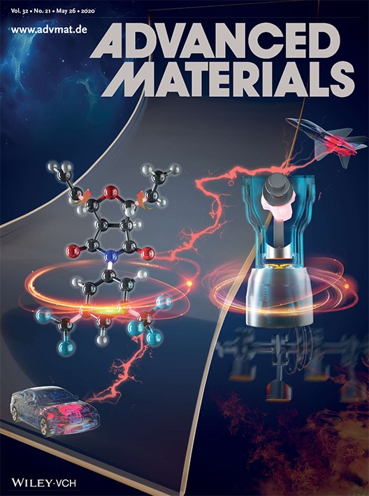 May 26th Issue of Advanced Materials cover showing the work of Dr. Greg Sotzing and collaborators